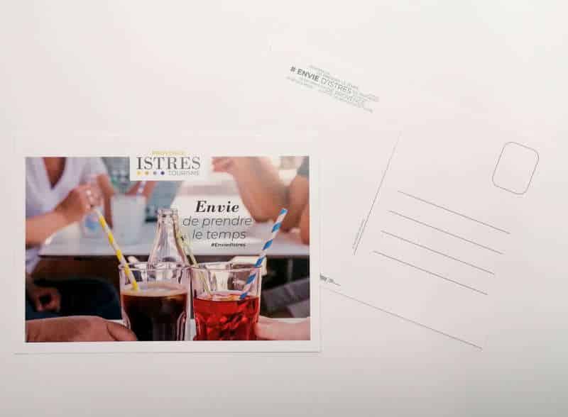 Impression + carte postale + Aix en Provence Marseille et Bouches du Rhône