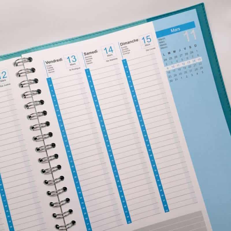 Impression + agenda de bureau + Aix en Provence Marseille et Bouches du Rhône