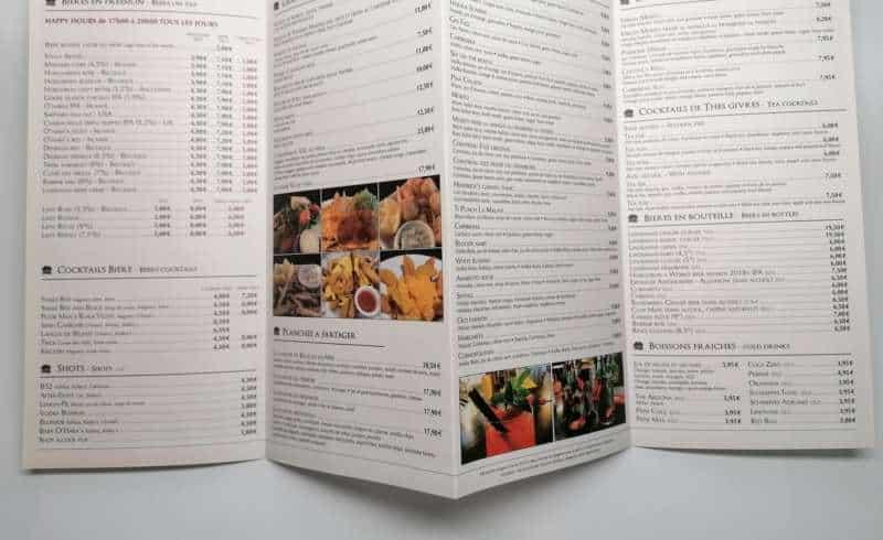 Impression + menu + Aix en Provence Marseille et Bouches du Rhône