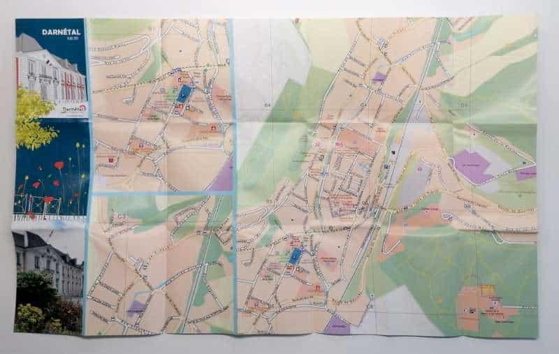 Impression + plan de ville + Aix en Provence Marseille et Bouches du Rhône