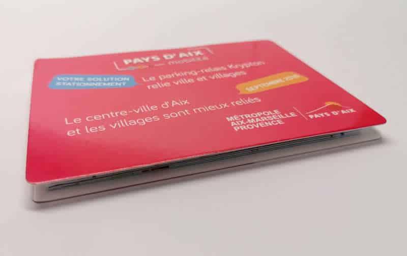 Impression + carte a pli + Aix en Provence Marseille et Bouches du Rhône