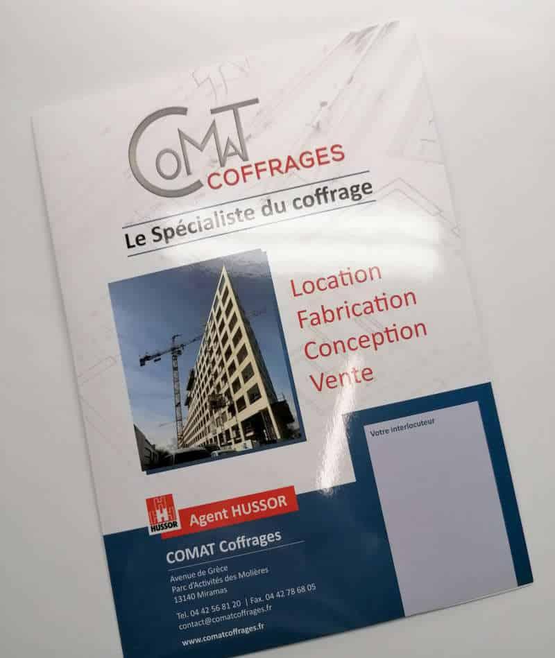 Impression + plaquette entreprise + Aix en Provence Marseille et Bouches du Rhône