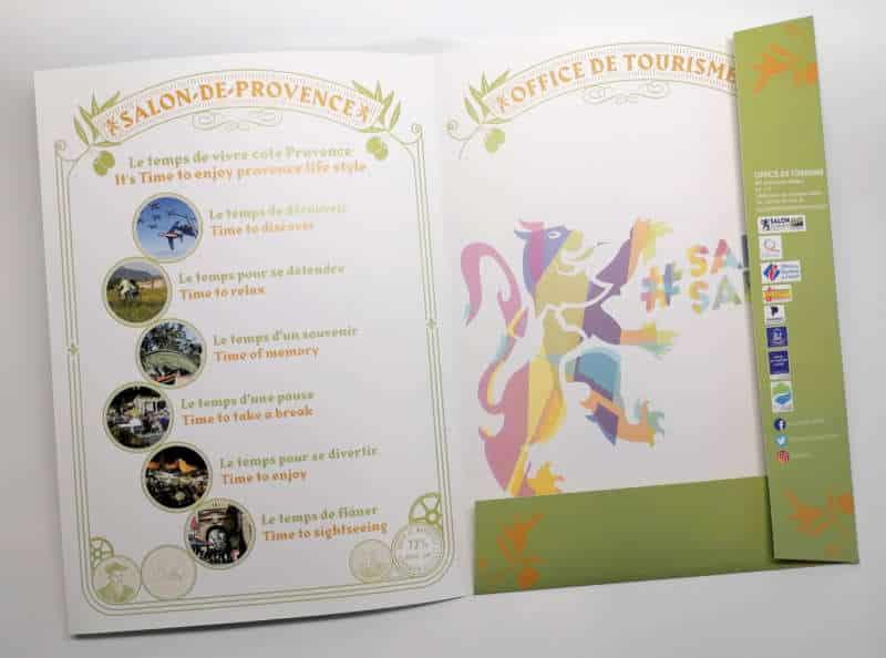 Impression + pochette à rabats + Aix en Provence Marseille et Bouches du Rhône